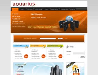 aquariushost.com screenshot