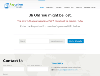 aquariusjackson.paycationpro.com screenshot