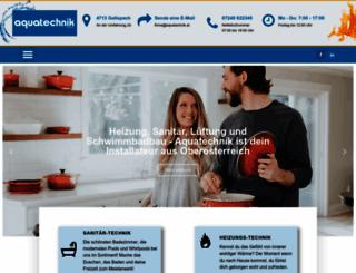 aquatechnik.at screenshot