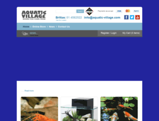 aquatic-village.com screenshot