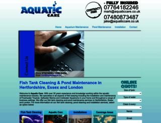 aquaticcare.co.uk screenshot