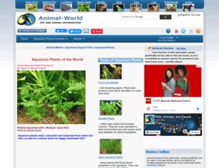 aquaticplants.animal-world.com screenshot