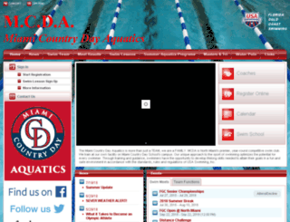 aquatics.miamicountryday.org screenshot