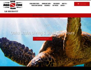 aquazonescuba.com screenshot