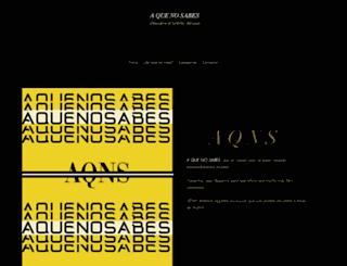 aquenosabes.com screenshot