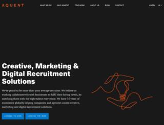 aquent.co.uk screenshot