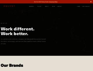 aquent.com screenshot