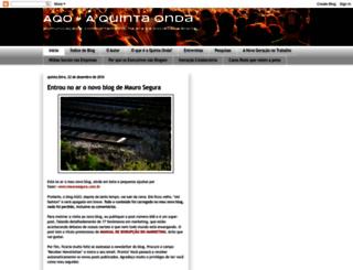 aquintaonda.blogspot.com.br screenshot