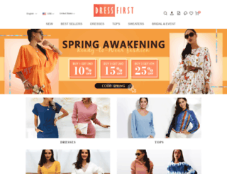 ar.dressfirst.com screenshot