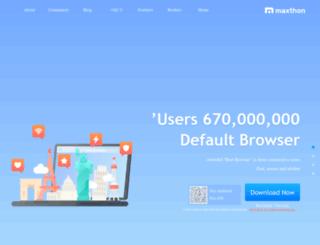 ar.maxthon.com screenshot