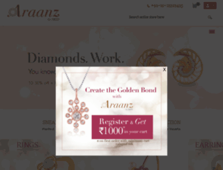 araanzjewels.com screenshot