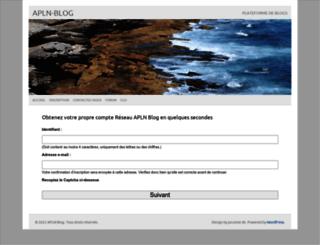 arabesquedemots.apln-blog.fr screenshot