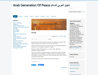 arabgenerationofpeace.org screenshot