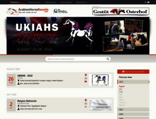 arabianhorseresults.com screenshot