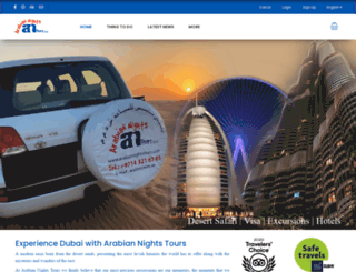 arabiannightstours.com screenshot