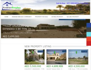 arabianranchesspecialist.com screenshot