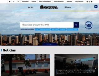 aracatuba.sp.gov.br screenshot