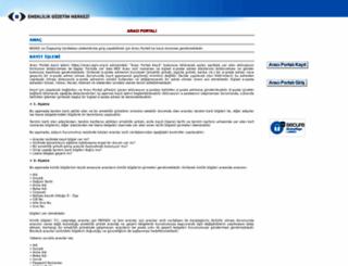 araci.egm.org.tr screenshot