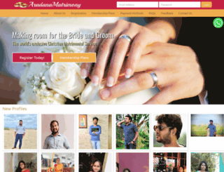 aradanamatrimony.com screenshot