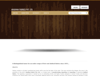 aradhnafabrics.tradeindia.com screenshot