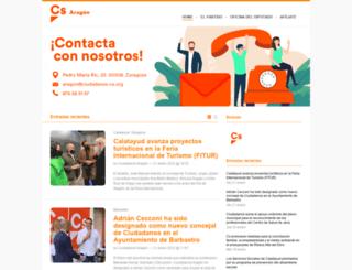 aragon.ciudadanos-cs.org screenshot