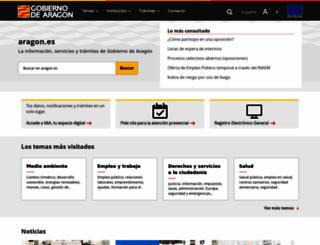 aragon.es screenshot