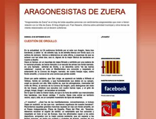 aragonesistasdezuera.blogspot.com screenshot