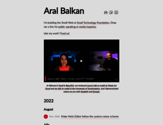 aralbalkan.com screenshot