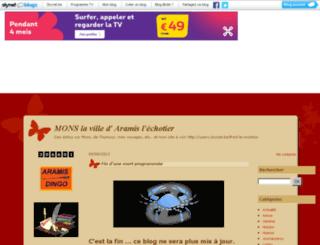 aramis-echotier.skynetblogs.be screenshot