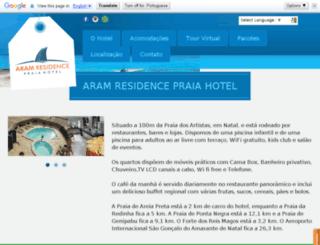 aramresidencepraiahotel.com.br screenshot