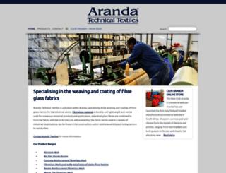 arandatechnicaltextiles.co.za screenshot