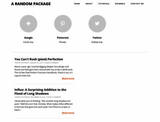 arandompackage.blogspot.co.uk screenshot