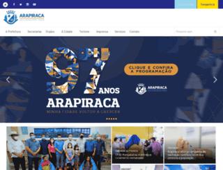 arapiraca.al.gov.br screenshot