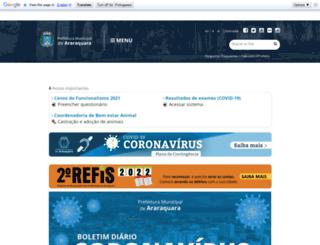 araraquara.sp.gov.br screenshot