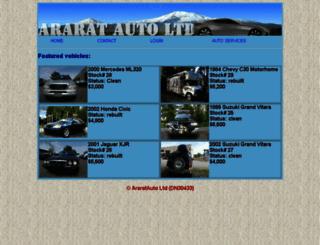 araratauto.com screenshot