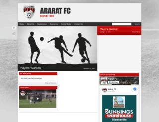 araratfc.com.au screenshot