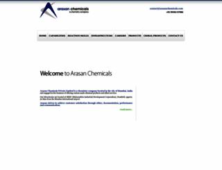 arasanchemicals.com screenshot