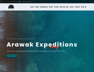arawakexp.com screenshot