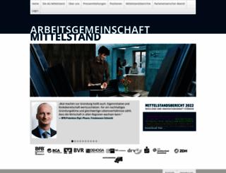 arbeitsgemeinschaft-mittelstand.de screenshot