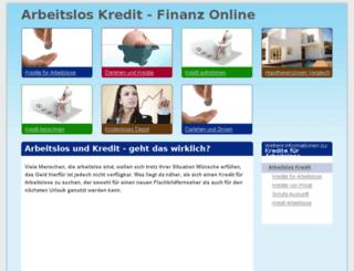 arbeitsloskredit.com screenshot