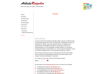 arbeitsratgeber.com screenshot
