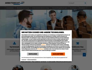 arbeitsrecht.org screenshot