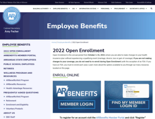 arbenefits.org screenshot