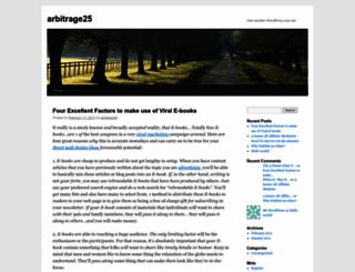 arbitrage25.wordpress.com screenshot