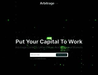 arbitrageportfolio.net screenshot