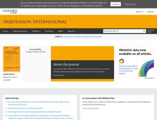 arbitration.oxfordjournals.org screenshot