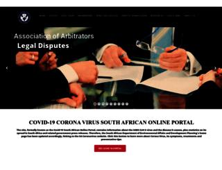 arbitrators.co.za screenshot