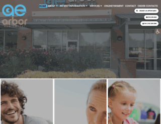 arboreyecenter.com screenshot