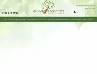 arborfield-arborists.com screenshot