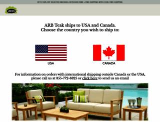 arbteak.com screenshot